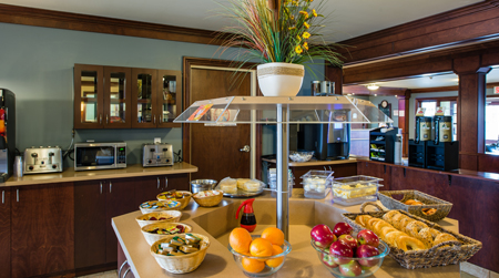 Buffet continental du Quality Inn